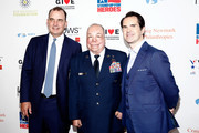 """John Shrewsberry, Israel """"DT"""" Del Toro and Jimmy Carr attend The New York Comedy Festival and The Bob Woodruff Foundation present the 12th Annual Stand Up For Heroes event at The Hulu Theater at Madison Square Garden on November 5, 2018 in New York City."""