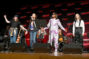 Rebecca Sugar, Deedee Magno, Estelle, and Michaela Dietz perform during the Steven Universe presentation at New York Comic Con 2019 - Day 2 at Jacobs Javits Center on October 04, 2019 in New York City.
