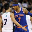 Carmelo Anthony and Jeremy Lin