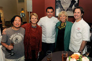 (L-R) Anita Lo, Dorothy Hamilton, Todd English, Gillian Duffy and Craig Hopson pose during the New York Culinary Experience hosted by New York magazine and The French Culinary Institute at The French Culinary Institute on October 3, 2010 in New York City.