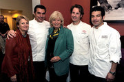 (L-R)  Dorothy Hamilton, Todd English, Gillian Duffy, Craig Hopson and George Mendes pose during the New York Culinary Experience hosted by New York magazine and The French Culinary Institute at The French Culinary Institute on October 3, 2010 in New York City.