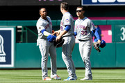 Yoenis Cespedes Michael Conforto Photos Photo