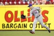 Jay Bruce #19 of the New York Mets fields a ground ball during the seventh inning against the Cincinnati Reds at Great American Ball Park on May 8, 2018 in Cincinnati, Ohio.