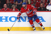 Andrei Markov #79 of the Montreal Canadiens skates against the New York Rangers in Game Two of the Eastern Conference Finals of the 2014 NHL Stanley Cup Playoffs at the Bell Centre on May 19, 2014 in Montreal, Canada.