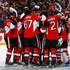 Dion Phaneuf Mike Hoffman Photos - Teammates Mike Hoffman #68, Ben Harpur #67, Dion Phaneuf #2 and Craig Anderson #41 of the Ottawa Senators celebrate their win against the New York Rangers in Game One of the Eastern Conference Second Round during the 2017 NHL Stanley Cup Playoffs at Canadian Tire Centre on April 27, 2017 in Ottawa, Ontario, Canada.  (Photo by Jana Chytilova/Freestyle Photography/Getty Images) <i></i>* Local Caption <i></i>* - New York Rangers v Ottawa Senators - Game One