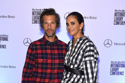 Aaron Young (L) and Laure Hariard Dubreuil attend the Speaker Dinner presented by Mercedes-Benz during The New York Times International Luxury Conference at the Moore Building on December 1, 2014 in Miami, Florida.