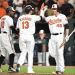 Adam Jones and Manny Machado Photos