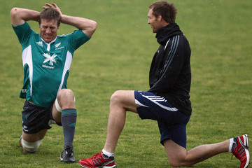 Ali Williams Brad Thorn New Zealand All Blacks Training Session