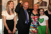 "Newly elected Super Mayor of Auckland Len Brown celebrates with his family, Daughter Olivia (L), wife Shan and youngest daughter Victoria on Super City election day on October 9, 2010 in Auckland, New Zealand. This is the first time a mayor will be elected for the enlarged Auckland City Council area known as ""Super City"