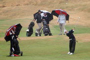 Ben Wallace of Auckland plays a shot off the fairway on the 18th hole during the New Zealand Men's Interprovincial Semi-Final at Paraparaumu Beach Golf Club on December 11, 2010 in Paraparaumu, New Zealand.