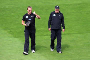 Damien Wright New Zealand v South Africa - 3rd Test: Day 1