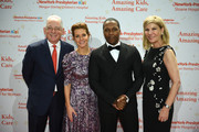 Steven J. Corwin, MD, Stephanie Ruhle, Leslie Odom, Jr. and Laura Forese, MD attend NewYork-Presbyterian Hospital's Amazing Kids, Amazing Care Dinner at Cipriani 25 Broadway on October 25, 2018 in New York City.
