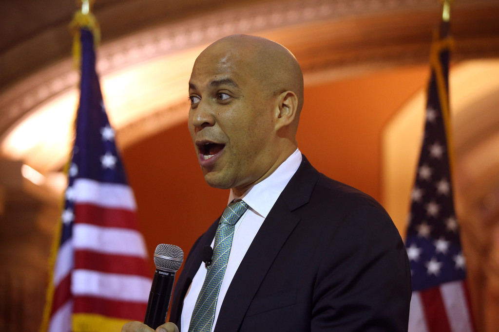cory booker Cory booker criticizes trump in iowa, where presidential hopefuls flock  mr booker, of new jersey, is one of several potential democratic presidential candidates who.