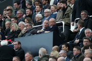 Mike Ashley, Newcastle United owner is seen in the stands prior to the Premier League match between Newcastle United and Brighton & Hove Albion at St. James Park on October 20, 2018 in Newcastle upon Tyne, United Kingdom.