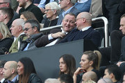 Mike Ashley looks on during the Premier League match between Newcastle United and Brighton & Hove Albion at St. James Park on October 20, 2018 in Newcastle upon Tyne, United Kingdom.