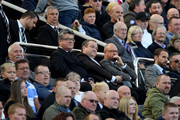 Mike Ashley, owner of Newcastle United watches from the stands during the Premier League match between Newcastle United and Leicester City at St. James Park on September 29, 2018 in Newcastle upon Tyne, United Kingdom.