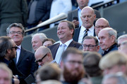 Mike Ashley, owner of Newcastle United looks on during the Premier League match between Newcastle United and Leicester City at St. James Park on September 29, 2018 in Newcastle upon Tyne, United Kingdom.