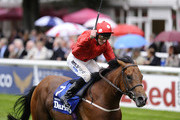 Paul Hanagan riding Mayson win The Darley July Cup at Newmarket racecourse on July 14, 2012 in Newmarket, England.