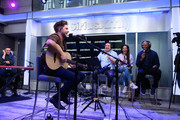 Niall Horan performs on SiriusXM Hits 1 with Ryan Sampson, Nicole Ryan and Stanley T at the SiriusXM Studios in New York City on October 08, 2019 in New York City.