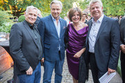 Joern Kubicki, Klaus Wowereit, the prime minister of Rhineland-Palatinate Malu Dreyer and the lord mayor of Worms Michael Kissel (L-R) attend the opening night of the Nibelungen festival on July 31, 2015 in Worms, Germany.