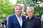 Klaus Wowereit (L) and his partner Joern Kubicki (R) attend the opening night of the Nibelungen festival on July 31, 2015 in Worms, Germany.