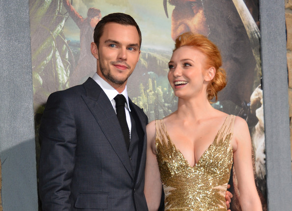 """Premiere Of New Line Cinema's """"Jack The Giant Slayer"""" - Red Carpet [jack the giant slayer,formal wear,suit,dress,gown,event,hairstyle,fashion,tuxedo,premiere,shoulder,red carpet,nicholas hoult,eleanor tomlinson,tcl chinese theatre,california,new line cinema,l,premiere,premiere]"""