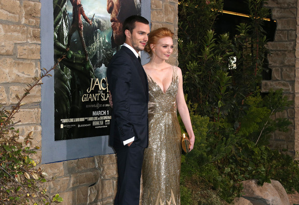 """Premiere Of New Line Cinema's """"Jack The Giant Slayer"""" - Arrivals [jack the giant slayer,photograph,dress,gown,formal wear,fashion,suit,event,tree,bridal clothing,wedding dress,arrivals,eleanor tomlinson,nicholas hoult,tcl chinese theatre,california,new line cinema,premiere of new line cinema,l,premiere]"""