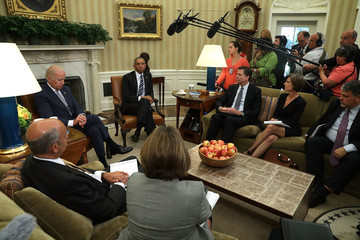 Nicholas Rasmussen Obama And Biden Meet With National Security Leaders At The White House