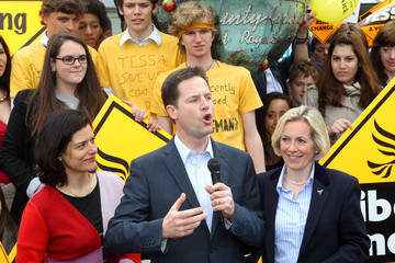 Tessa Munt Nick Clegg Takes His Election Tour To The South West