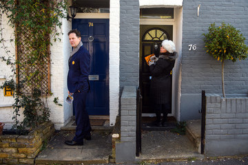 Nick Clegg Canvassing In Richmond With The Liberal Democrat Candidate Saray Olney