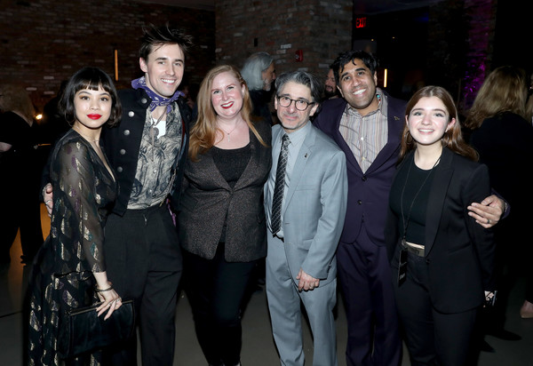 62nd GRAMMY Nominee Celebration [event,fashion,fun,fashion design,performance,night,formal wear,party,guests,eva noblezada,julie james,nick cucci,reeve carney,l-r,new york city,grammy nominee celebration,eva noblezada,reeve carney,ana\u00efs mitchell,james harkness,livingly media,photograph,image,just jared]
