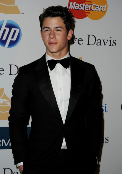 Nick Jonas Singer Nick Jonas arrives at the 2011 Pre-GRAMMY Gala and Salute To Industry Icons Honoring David Geffen at Beverly Hilton on February 12, 2011 in Beverly Hills, California.