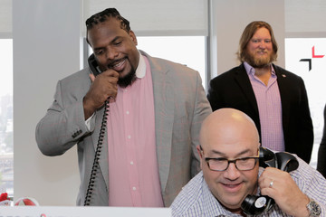 Nick Mangold Annual Charity Day Hosted By Cantor Fitzgerald, BGC and GFI - BGC Office - Inside