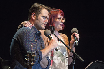 Nick Offerman Nick Offerman and Megan Mullally Perform at the Wiltern