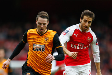 Nick Powell Arsenal v Hull City - The Emirates FA Cup Fifth Round