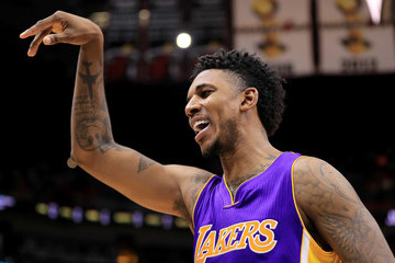 Nick Young Los Angeles Lakers v Miami Heat