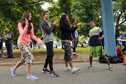 Actors  (L-R) Kira Kosarin, Jack Griffo, Sydney Park and Tylen Jacob Williams attend Nickelodeon's 11th Annual Worldwide Day of Play at Prospect Park on September 20, 2014 in New York City.