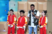 (L-R) Actors Cree Cicchino, Benjamin Flores Jr., Kel Mitchell, and  Madisyn Shipman speak onstage during Nickelodeon's 2016 Kids' Choice Awards at The Forum on March 12, 2016 in Inglewood, California.