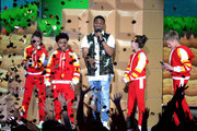 (L-R) Actors Cree Cicchino, Benjamin Flores Jr., Kel Mitchell (holding microphone), Madisyn Shipman and Thomas Kuc speak onstage during Nickelodeon's 2016 Kids' Choice Awards at The Forum on March 12, 2016 in Inglewood, California.