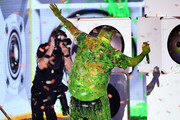 DJ Khaled gets slimed onstage at Nickelodeon's 2019 Kids' Choice Awards at Galen Center on March 23, 2019 in Los Angeles, California.