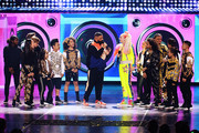 DJ Khaled and JoJo Siwa speak onstage at Nickelodeon's 2019 Kids' Choice Awards at Galen Center on March 23, 2019 in Los Angeles, California.