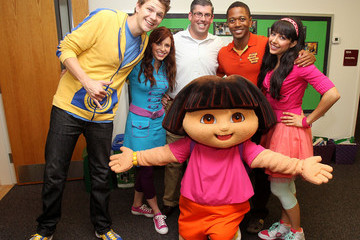 Peter Young Nickelodeon's The Fresh Beat Band And Dora The Explorer Visit Brent Elementary School In Southeast D.C.