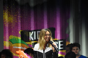 Snowboarder Chloe Kim accepts the Don't Try This at Home award onstage during the Nickelodeon Kids' Choice Sports 2018 at Barker Hangar on July 19, 2018 in Santa Monica, California.
