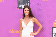 Model-Miss California USA 2010 Nicole Johnson attends Nickelodeon Kids' Choice Sports Awards 2017 at Pauley Pavilion on July 13, 2017 in Los Angeles, California.