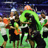 Drew Brees Todd Gurley Photos - Actors Breanna Yde, Ricardo Hurtado, NFL palyer Luke Kuechly, former NFL player Deion Sanders and NFL player Stefon Diggs attend the Superstar Slime Showdown taping at Nickelodeon at the Super Bowl Experience on February 1, 2018 in Minneapolis, Minnesota. - Nickelodeon at the Super Bowl Experience - Superstar Slime Showdown Taping