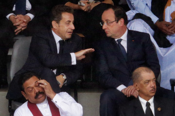 Nicolas Sarkozy Memorial Service Held for Nelson Mandela