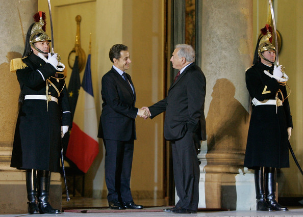 President Nicolas Sarkozy Meets Managing Director of the International Monetary Fund []
