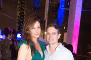 Ingrid Vandebosh and Jeff Gordon attend Nicole & DJ Khaled's Birthday Celebration With Haute Living And Roger Dubuis at Perez Art Museum Miami on December 9, 2018 in Miami, Florida.
