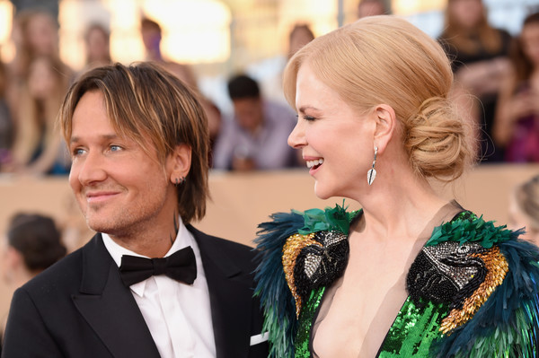 The 23rd Annual Screen Actors Guild Awards - Arrivals [hair,hairstyle,fashion,blond,event,red carpet,carpet,dress,smile,premiere,arrivals,keith urban,nicole kidman,screen actors guild awards,california,los angeles,the shrine auditorium,l]