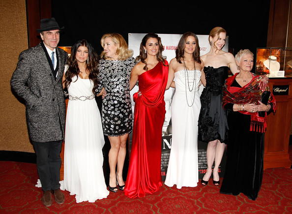 New York Screening of NINE Co-Hosted by Martini [event,social group,fashion,carpet,red carpet,formal wear,dress,flooring,gown,fun,martini,actors,penelope cruz,marion cotillard,daniel day-lewis,kate hudson,fergie,l-r,new york,screening]